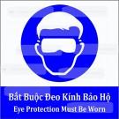 Biển báo bắt buộc đeo kính bảo hộ