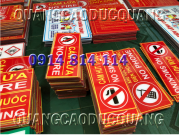 Biển báo Cấm lửa Cấm hút thuốc bàng Mica